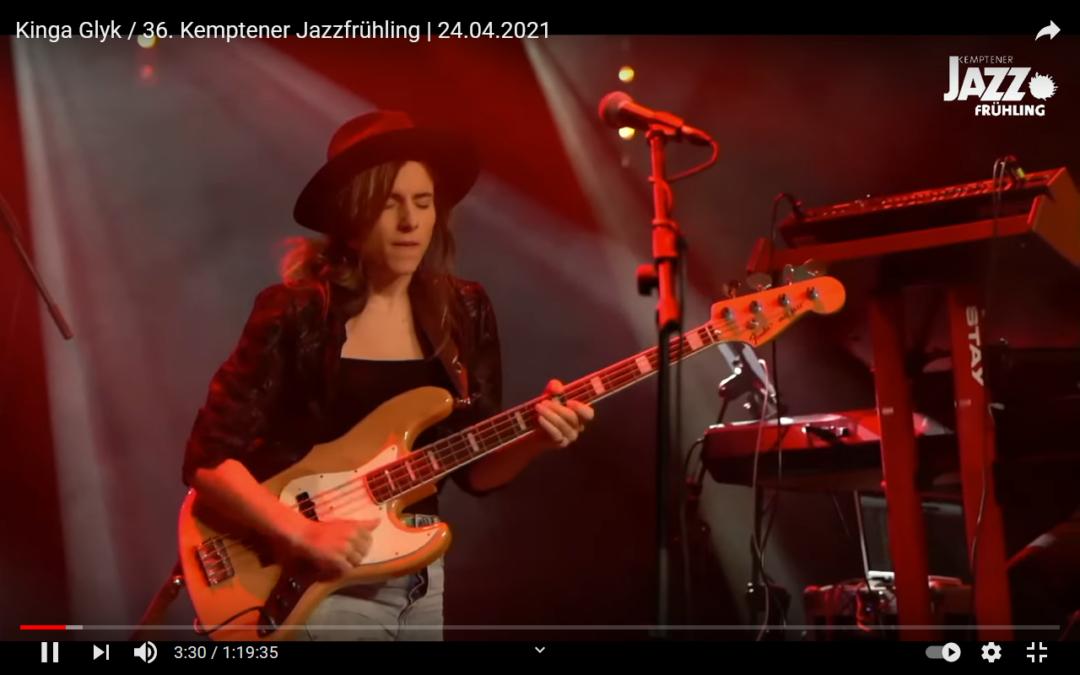 36. Kemptener Jazzfrühling: Konzert mit der großartigen Kinga Glyk – 24.04.2021
