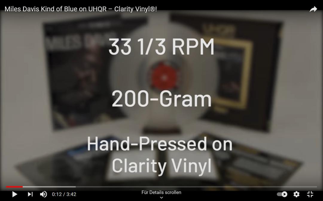 """Neue LP Auflage von """"Kind of Blue"""" in UHQR Vinyl (200g)"""