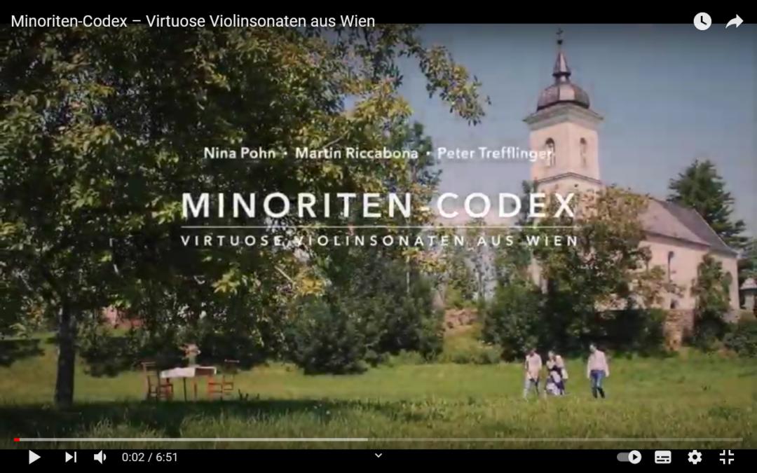 Besonderer Musik- und CD-Tipp: Minoriten Codex – Virtuose Violinsonaten aus Wien mit Nina Pohn