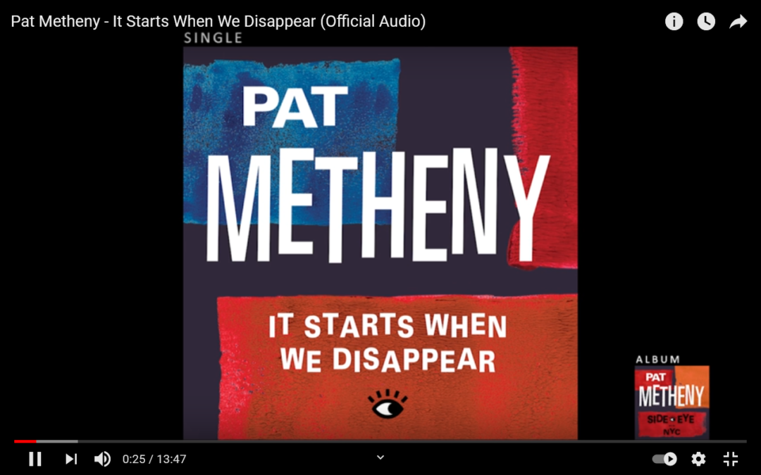 """Neues Pat Metheny Album: """"It Starts When We Disappear"""""""