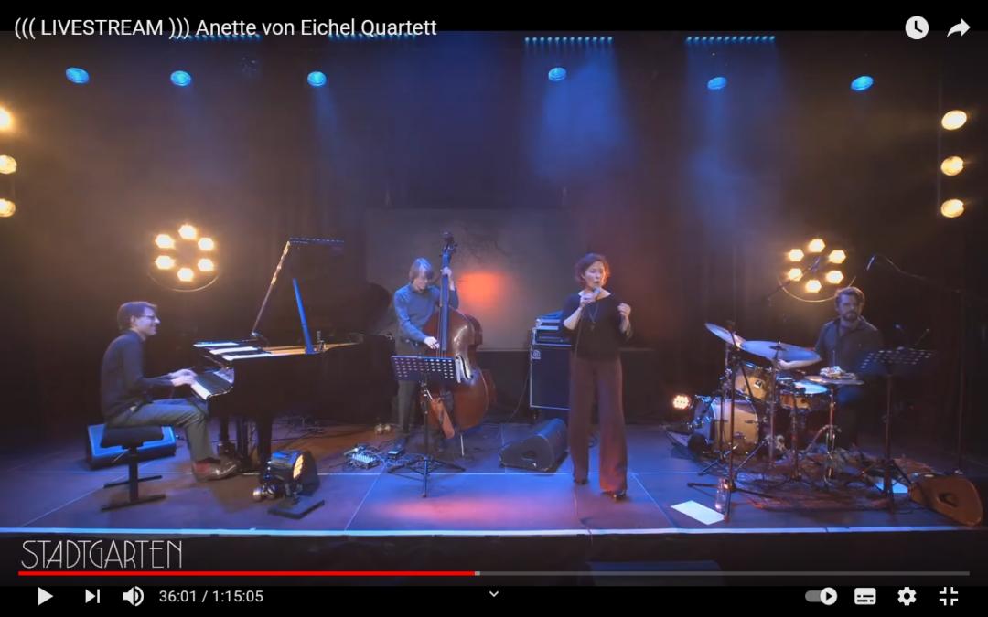 Montag…beginnen wir die Woche einfach mit einem wunderbaren Akustikjazz-Konzert und dem Anette von Eichel Quartett
