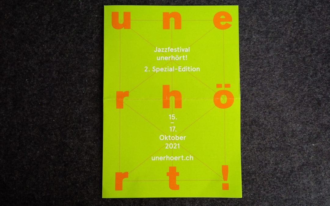 TIPP: Jazzfestival: unerhört!, 2. Spezial-Edition
