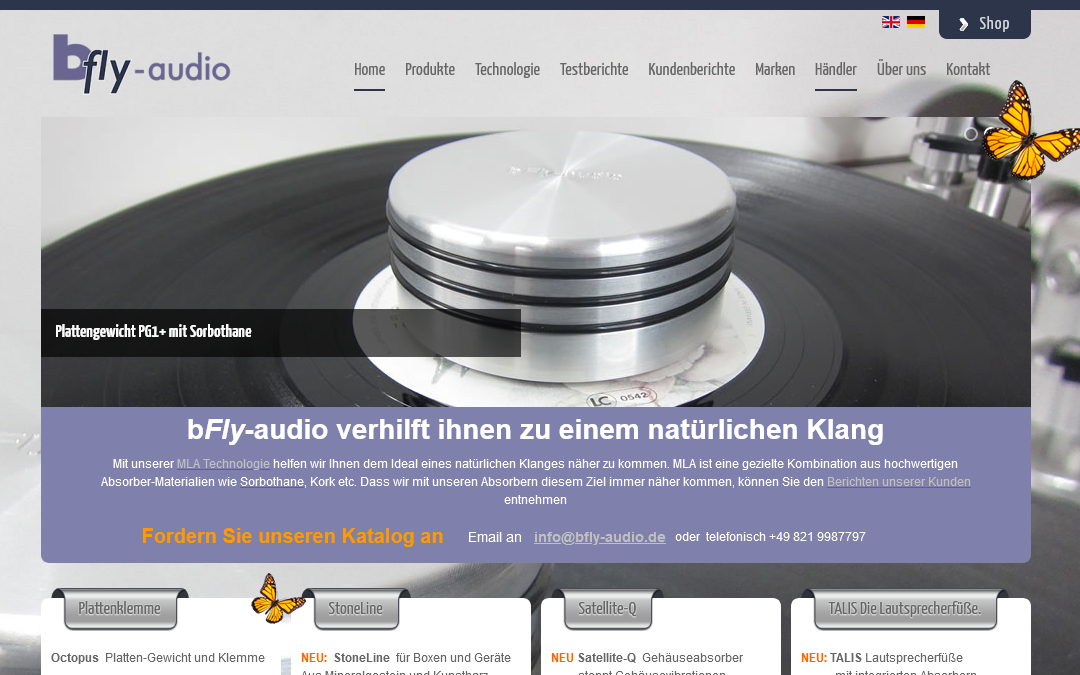 bfly-audio ist umgezogen